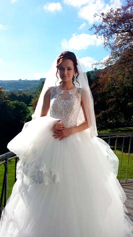 Bride at her wedding at Abernant House